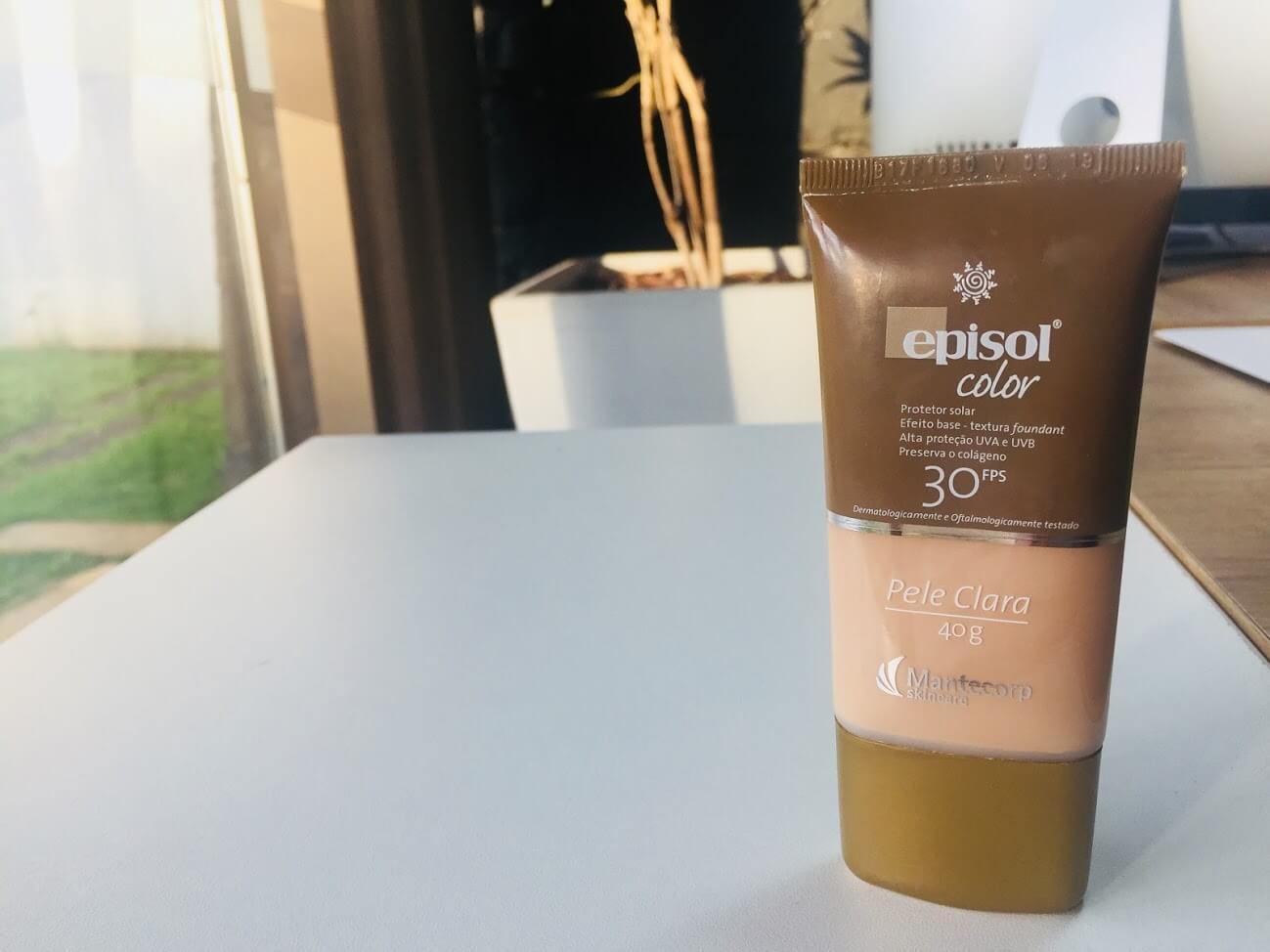 Resenha Episol Color (protetor solar com cor)  é bom  Causa acne    MS 3e5ab3894f