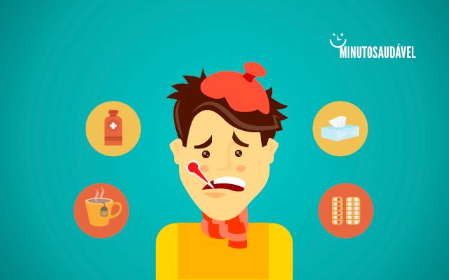 Doendo a gripe durante pernas