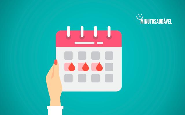 Ilustração de um calendário menstrual